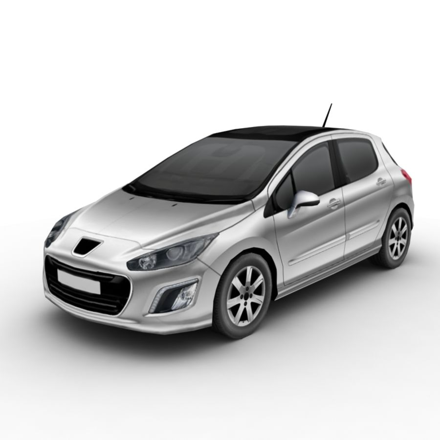 Peugeot 308 (2012) royalty-free 3d model - Preview no. 1