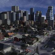 City 3ds Max 3d model