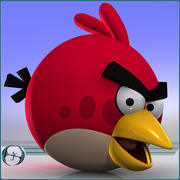 Angry Birds (Red) 3d model