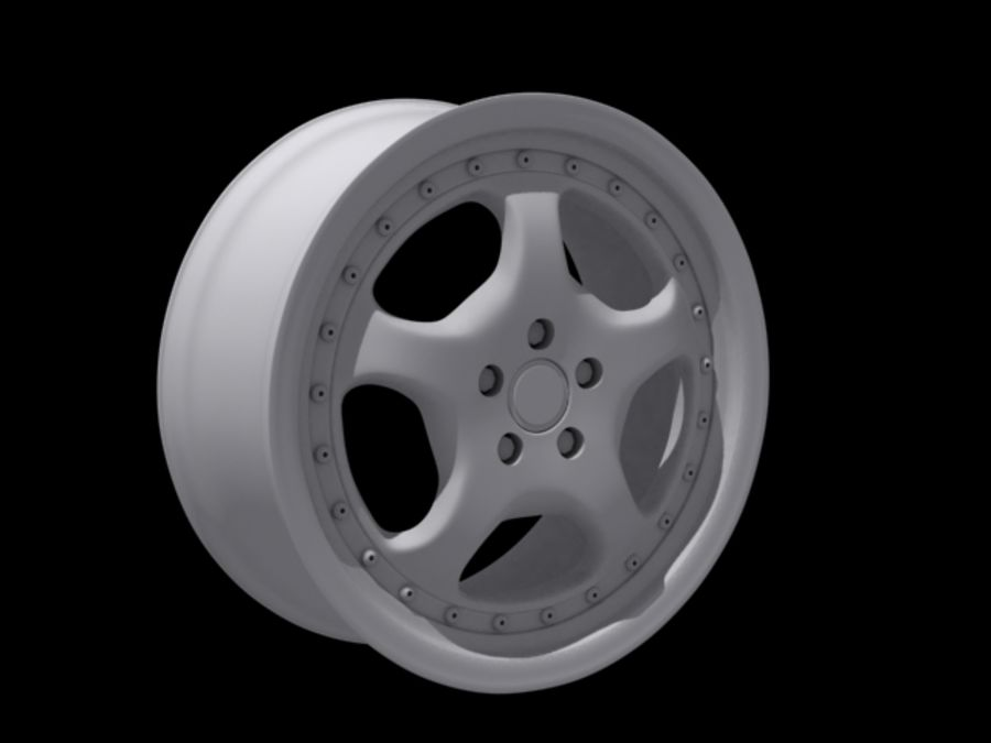 Cup speedline wheel royalty-free 3d model - Preview no. 2