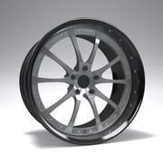 原型B赛车轮圈 3d model