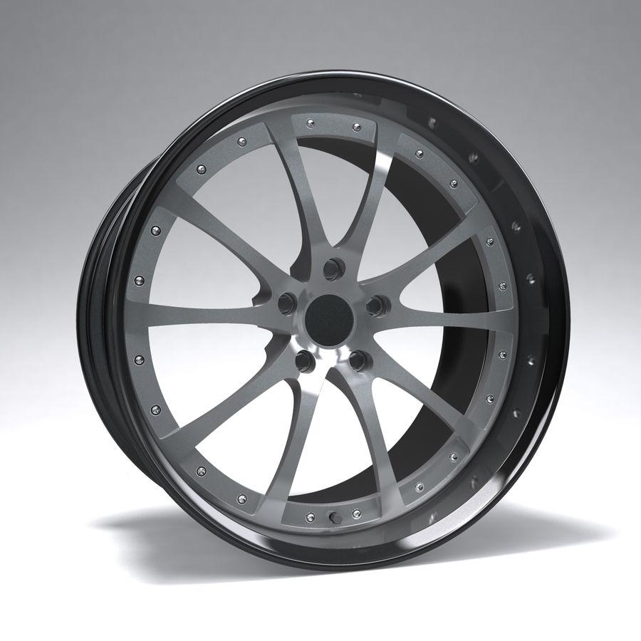 原型B赛车轮圈 royalty-free 3d model - Preview no. 1