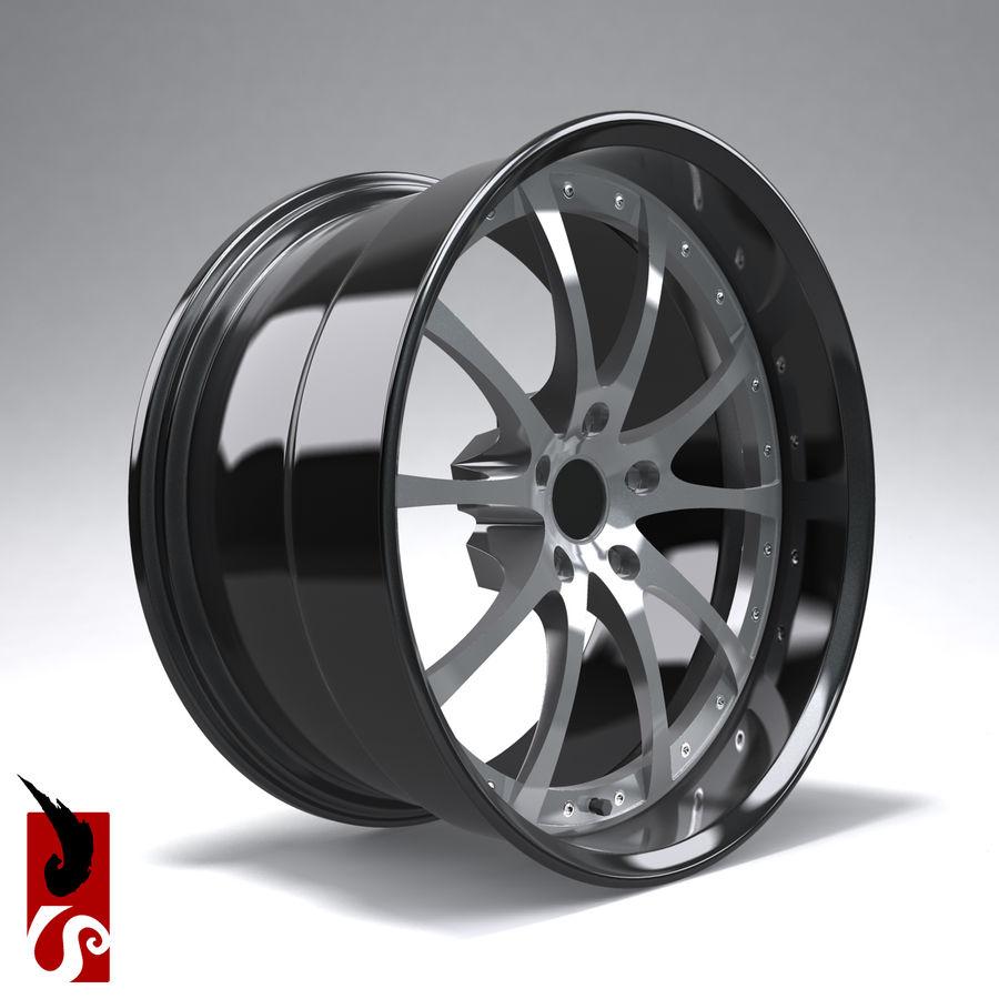 原型B赛车轮圈 royalty-free 3d model - Preview no. 5