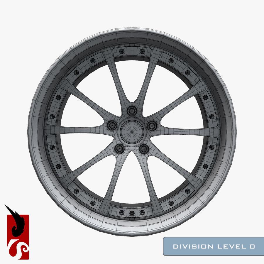 原型B赛车轮圈 royalty-free 3d model - Preview no. 12