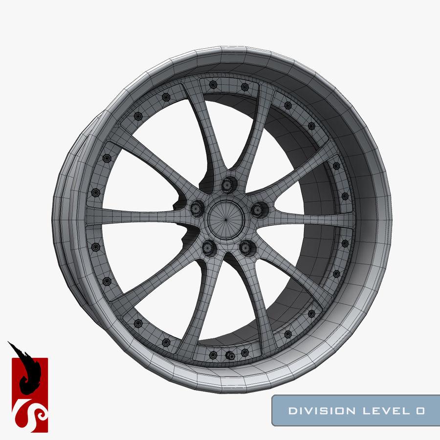 原型B赛车轮圈 royalty-free 3d model - Preview no. 3