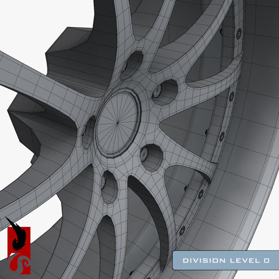原型B赛车轮圈 royalty-free 3d model - Preview no. 16