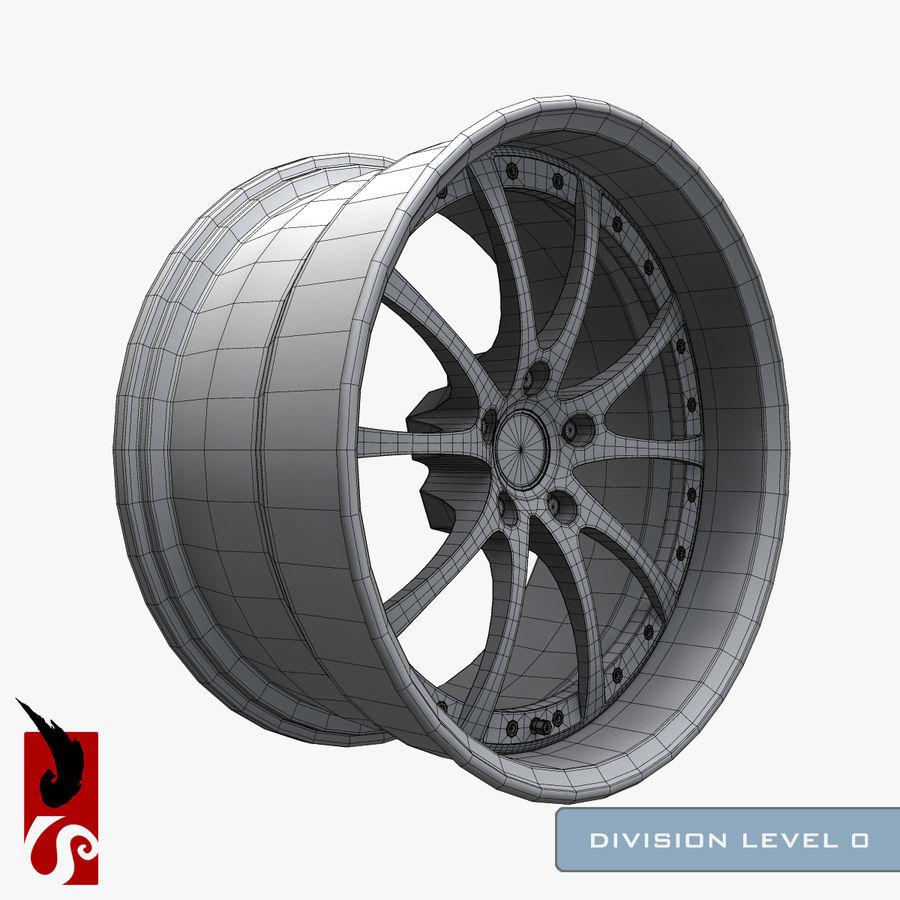 原型B赛车轮圈 royalty-free 3d model - Preview no. 14