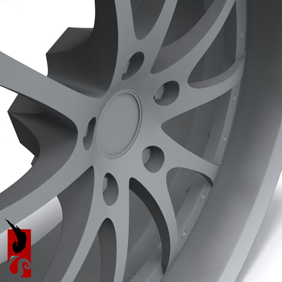 原型B赛车轮圈 royalty-free 3d model - Preview no. 11
