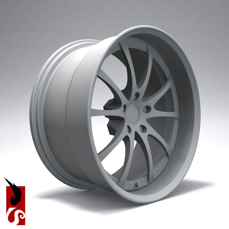 原型B赛车轮圈 royalty-free 3d model - Preview no. 9