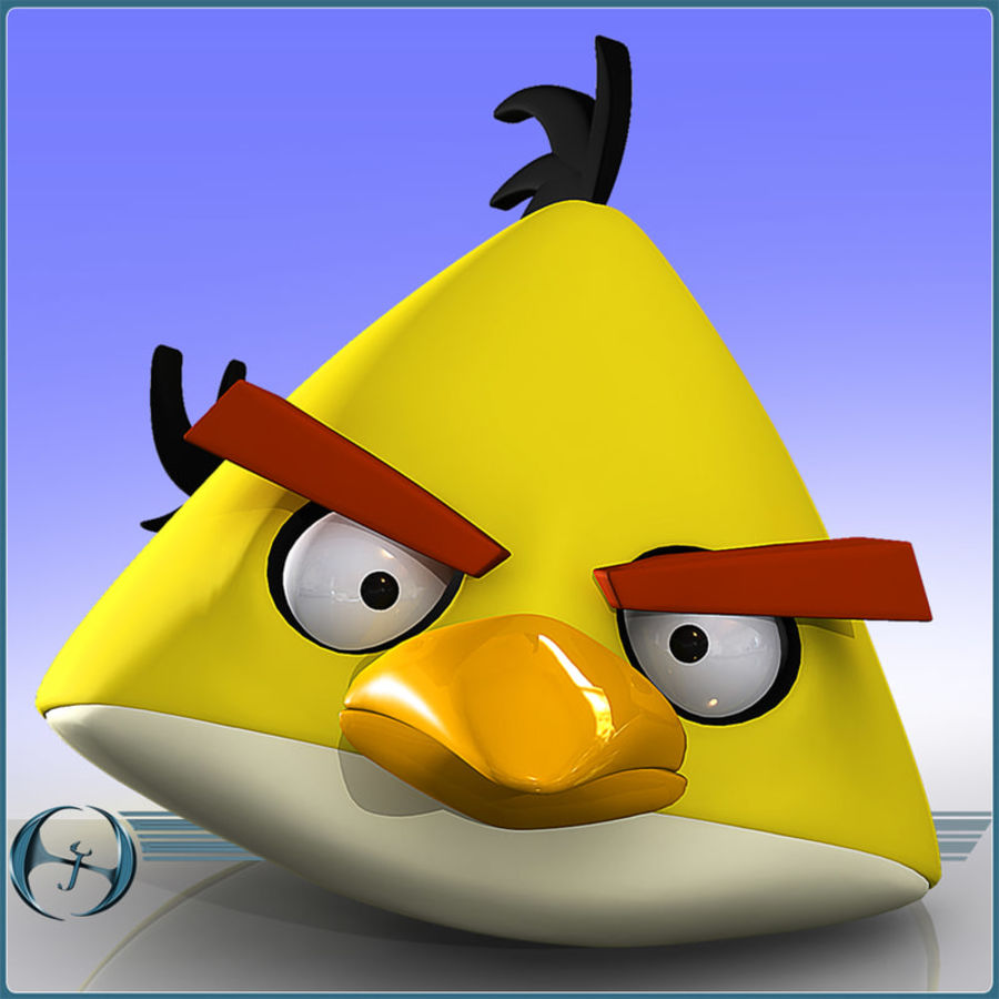 Angry Birds (Yellow) royalty-free 3d model - Preview no. 3