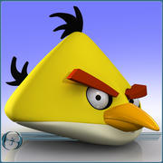 Angry Birds (Gelb) 3d model
