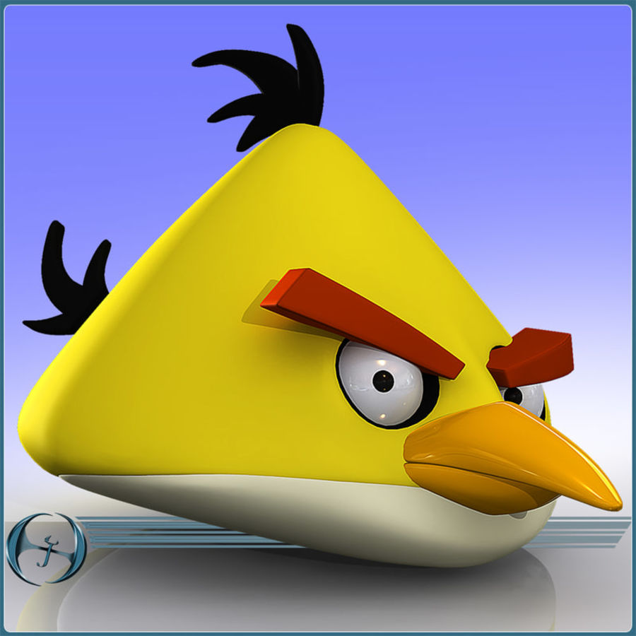 Angry Birds (Yellow) royalty-free 3d model - Preview no. 1