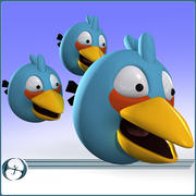Angry Birds (Blue) 3d model