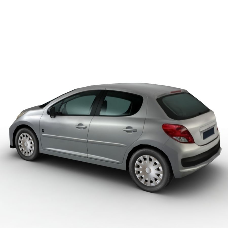 Peugeot 207 (2010) royalty-free 3d model - Preview no. 3