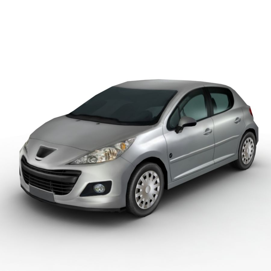 Peugeot 207 (2010) royalty-free 3d model - Preview no. 1