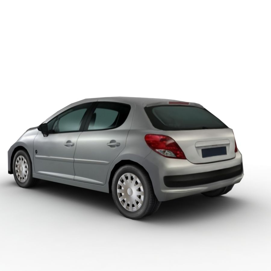 Peugeot 207 (2010) royalty-free 3d model - Preview no. 2