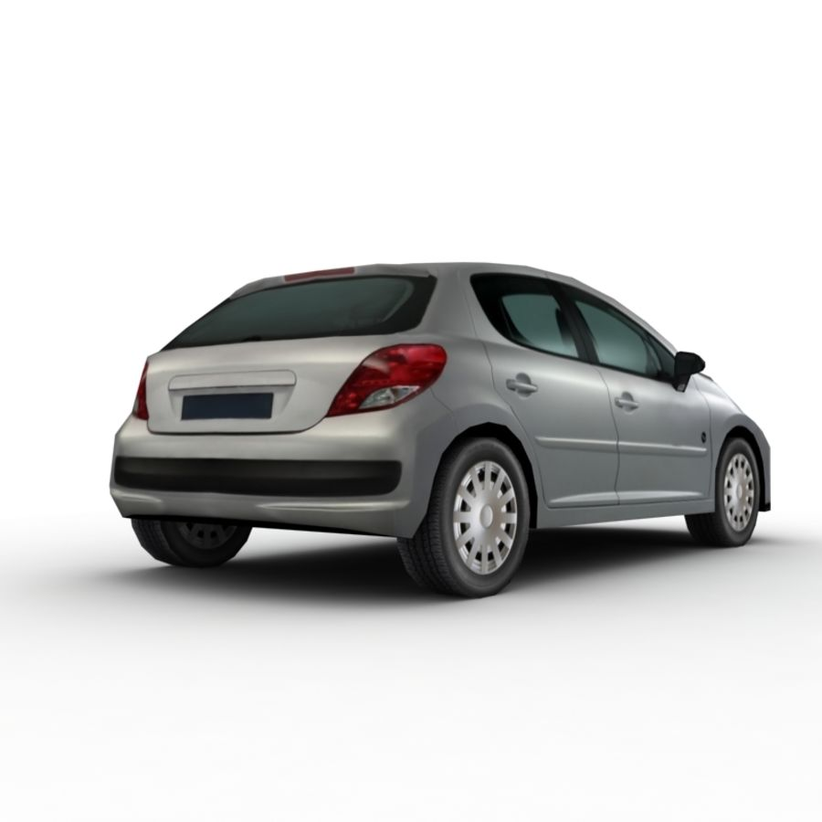 Peugeot 207 (2010) royalty-free 3d model - Preview no. 5