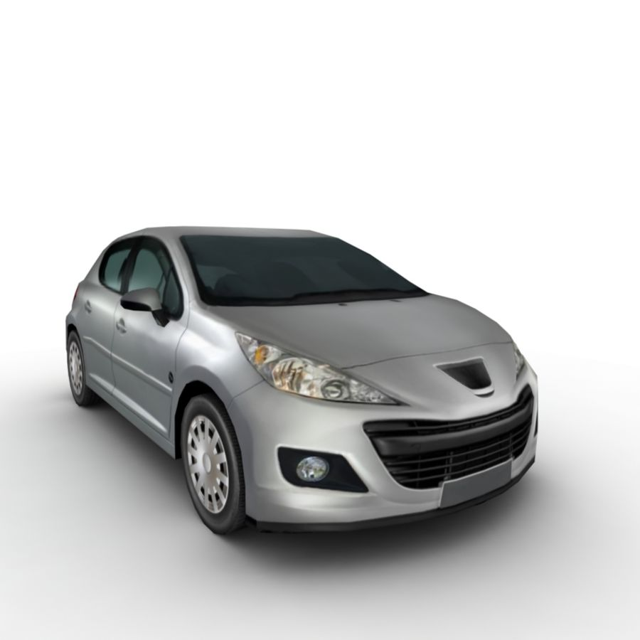Peugeot 207 (2010) royalty-free 3d model - Preview no. 6