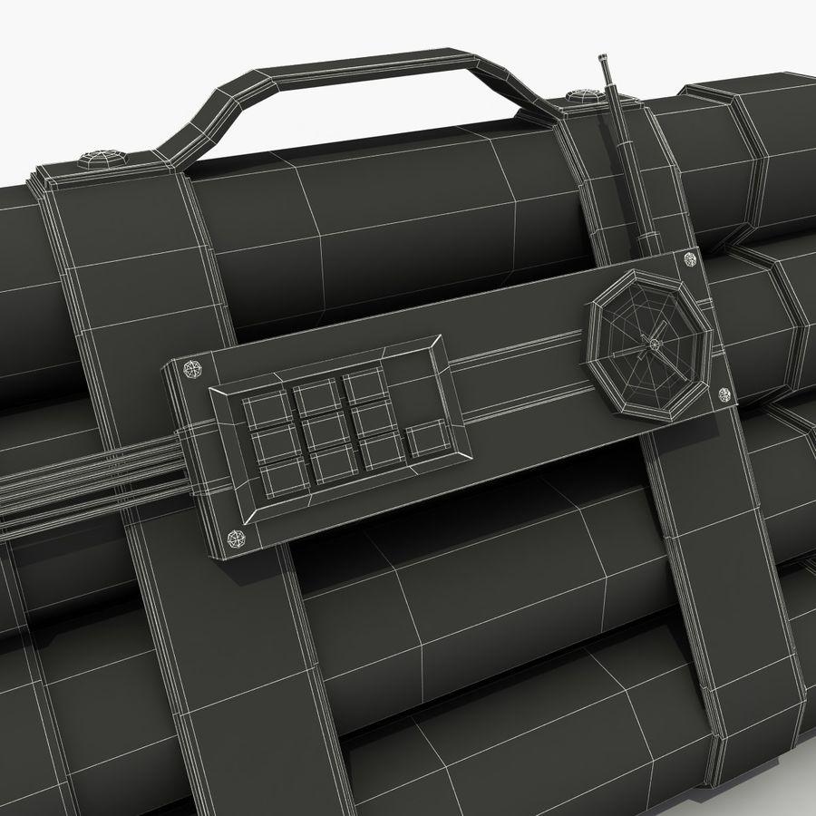 Dynamite TNT 4 royalty-free 3d model - Preview no. 9