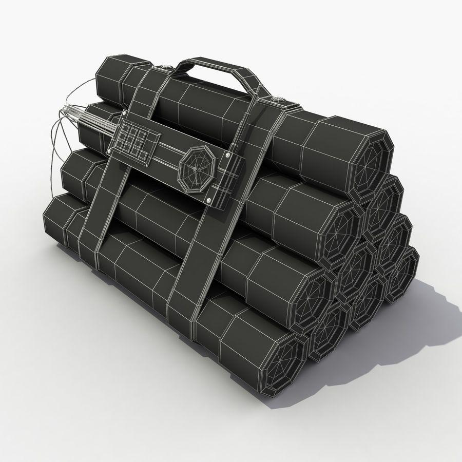 Dynamite TNT 4 royalty-free 3d model - Preview no. 8