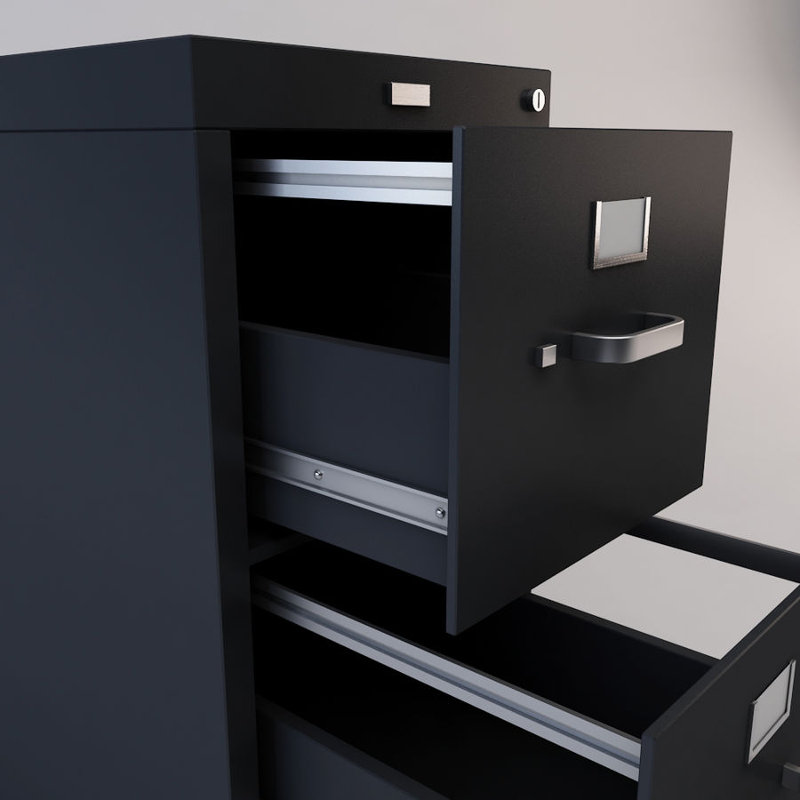 File Cabinet 3 royalty-free 3d model - Preview no. 8