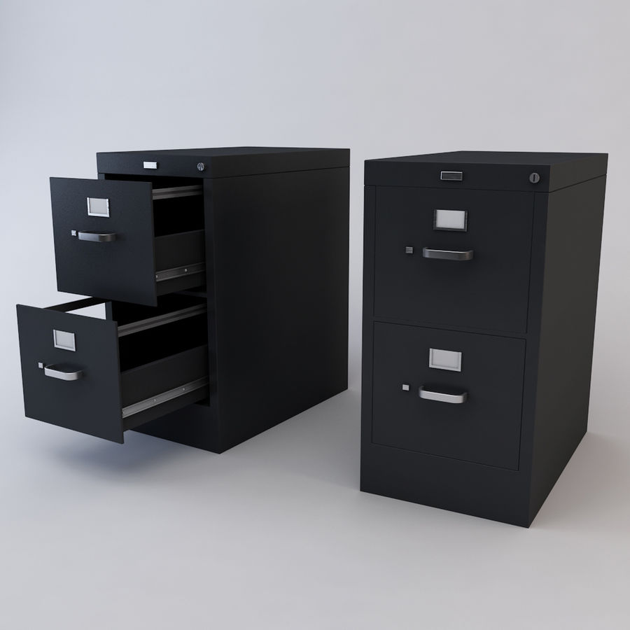 File Cabinet 3 royalty-free 3d model - Preview no. 2