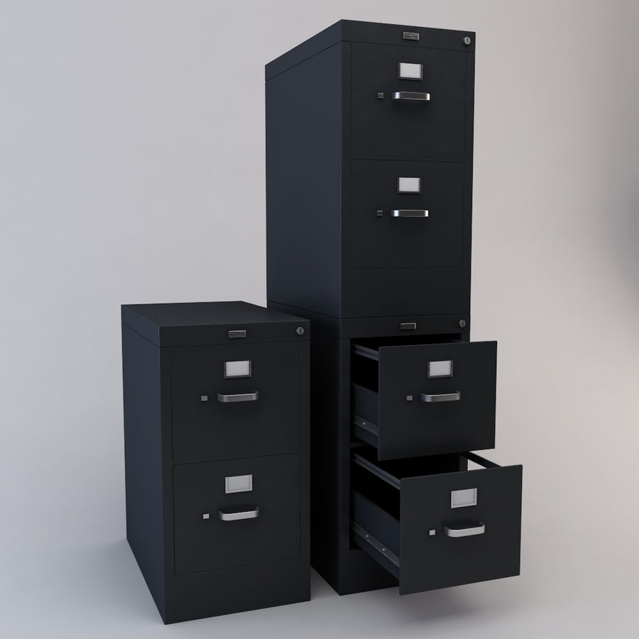 File Cabinet 3 royalty-free 3d model - Preview no. 7