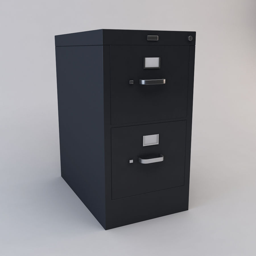 File Cabinet 3 royalty-free 3d model - Preview no. 4