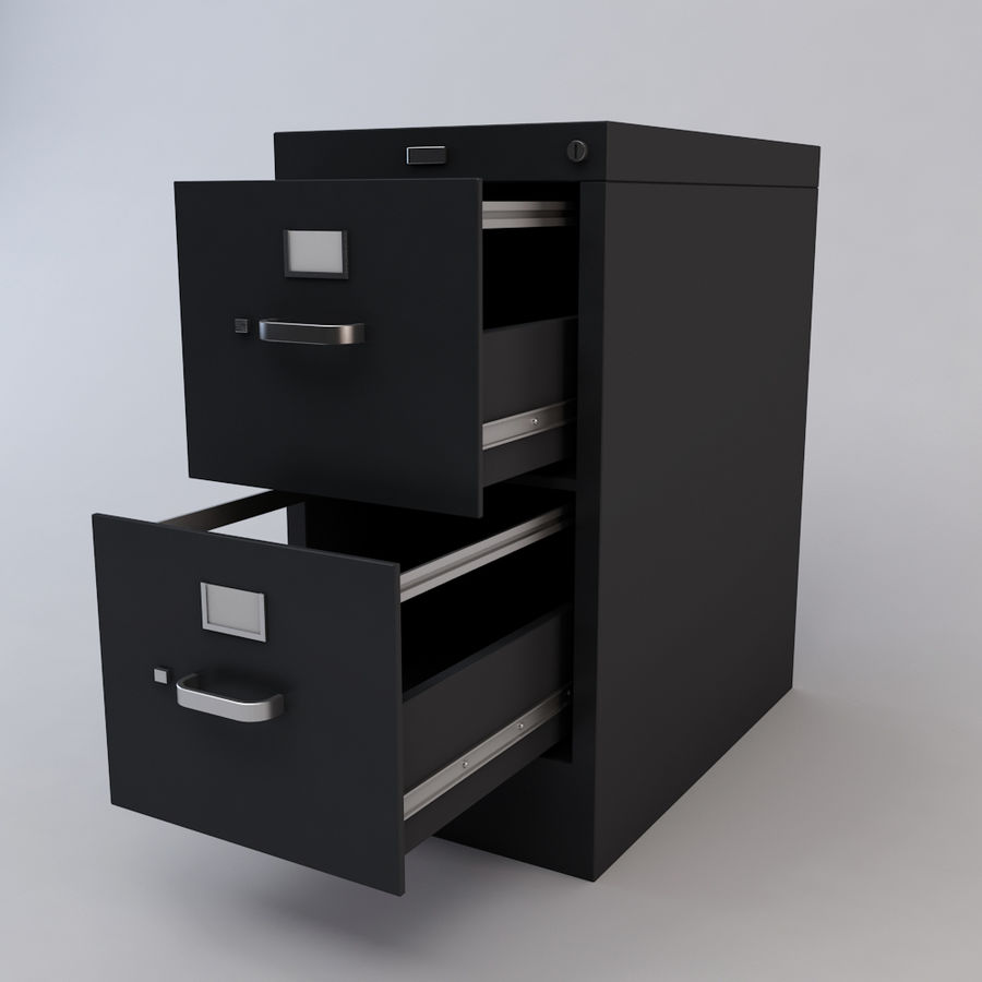 File Cabinet 3 royalty-free 3d model - Preview no. 6