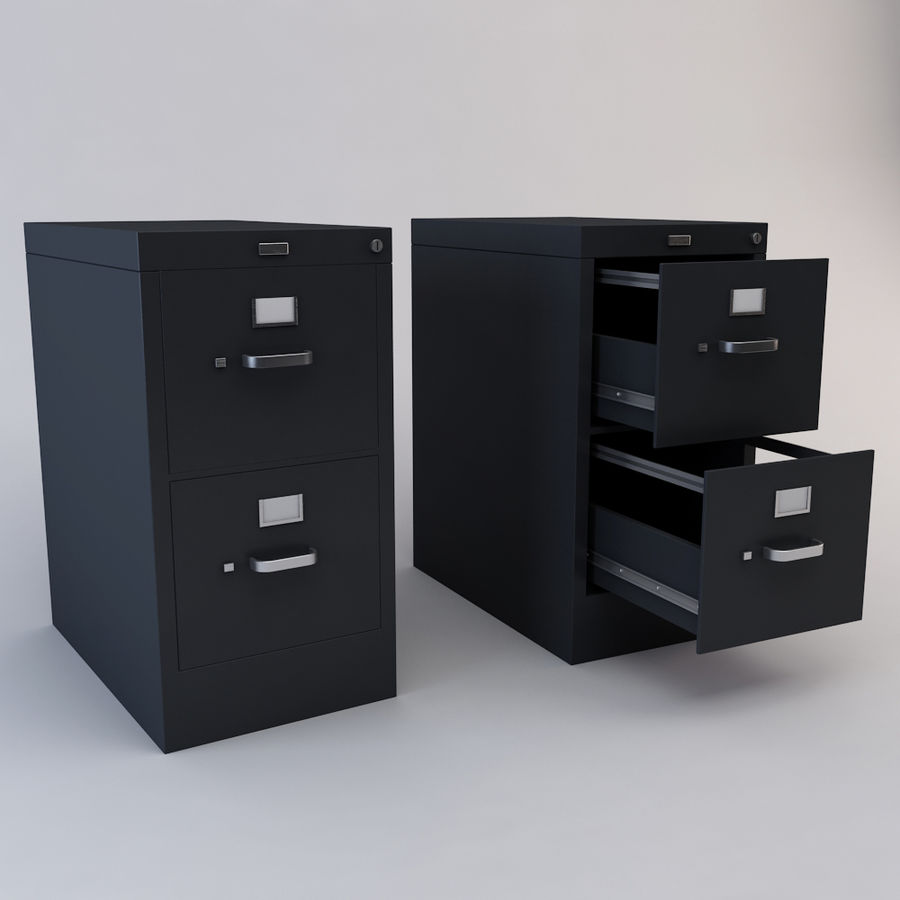 File Cabinet 3 royalty-free 3d model - Preview no. 1