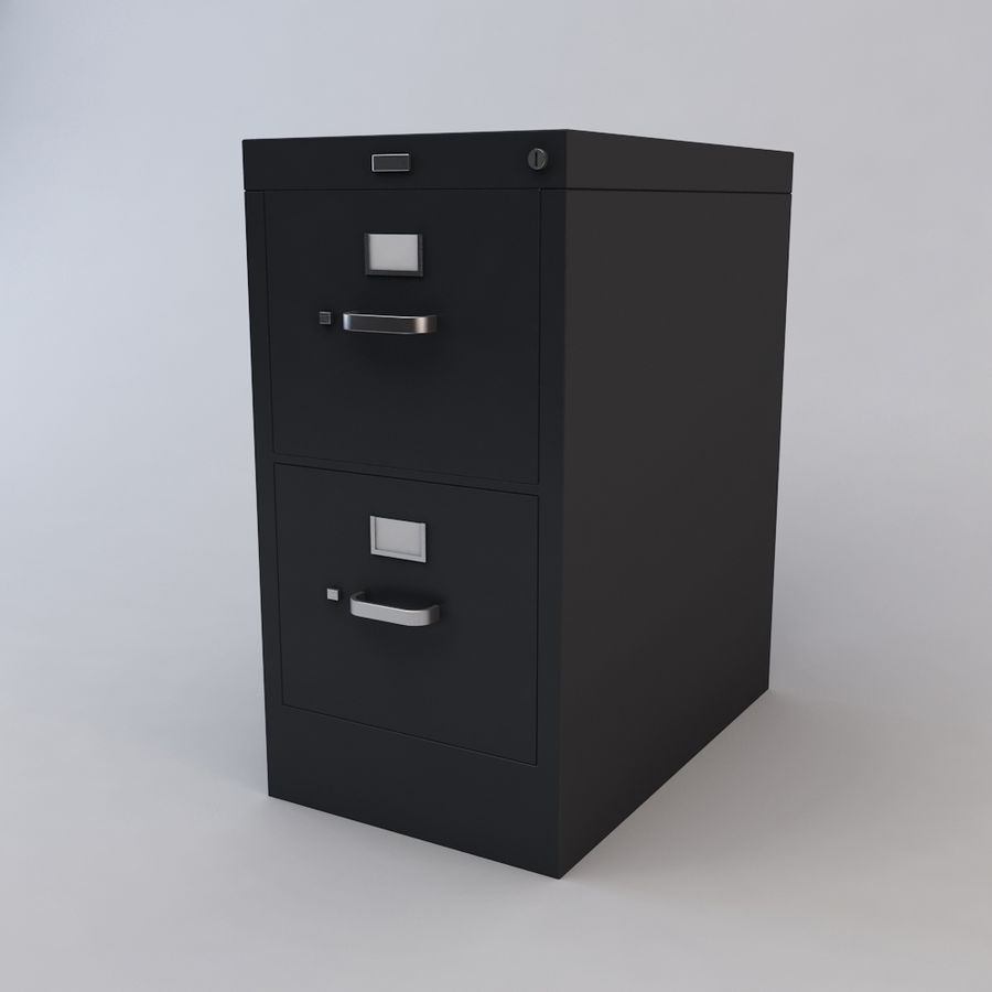 File Cabinet 3 royalty-free 3d model - Preview no. 5