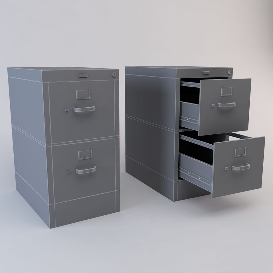 File Cabinet 3 royalty-free 3d model - Preview no. 9