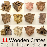 wooden crates collection (2) 3d model