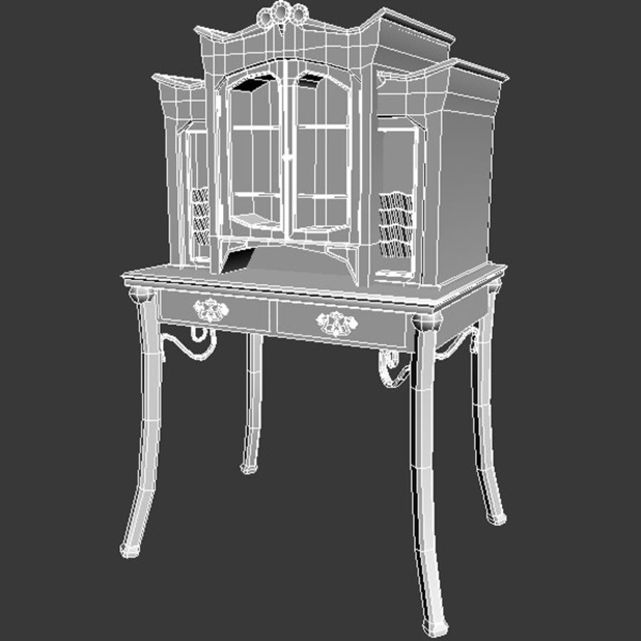 Wood furniture royalty-free 3d model - Preview no. 4