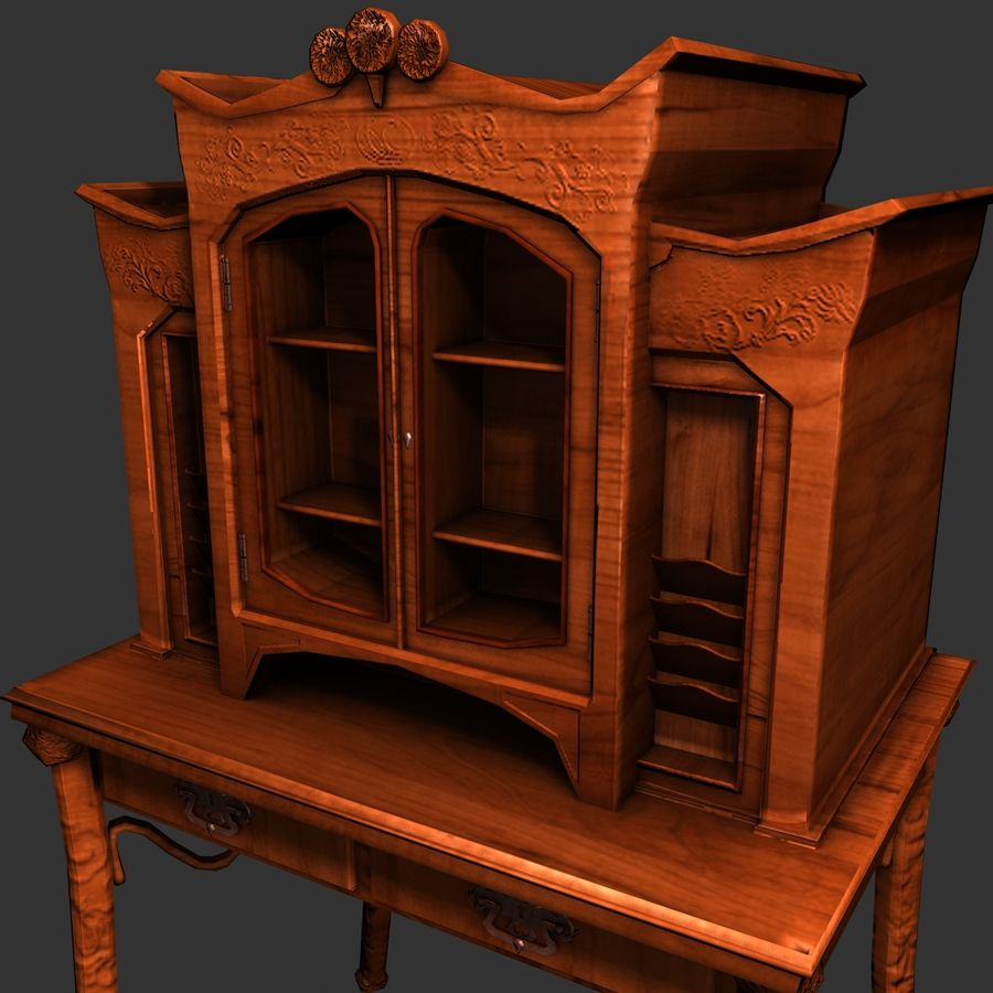 Houten meubilair royalty-free 3d model - Preview no. 2
