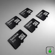 San Disk Micro SD Collection 3d model