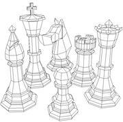 체스 말 3d model