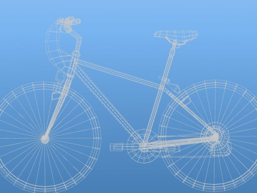 K2 Bike royalty-free 3d model - Preview no. 8