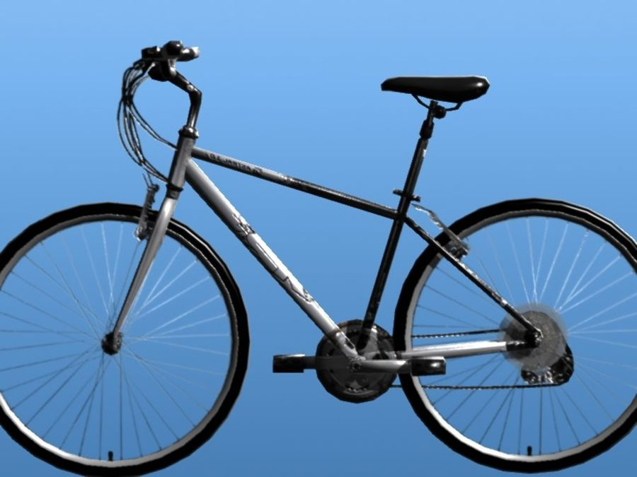 K2 Bike royalty-free 3d model - Preview no. 7