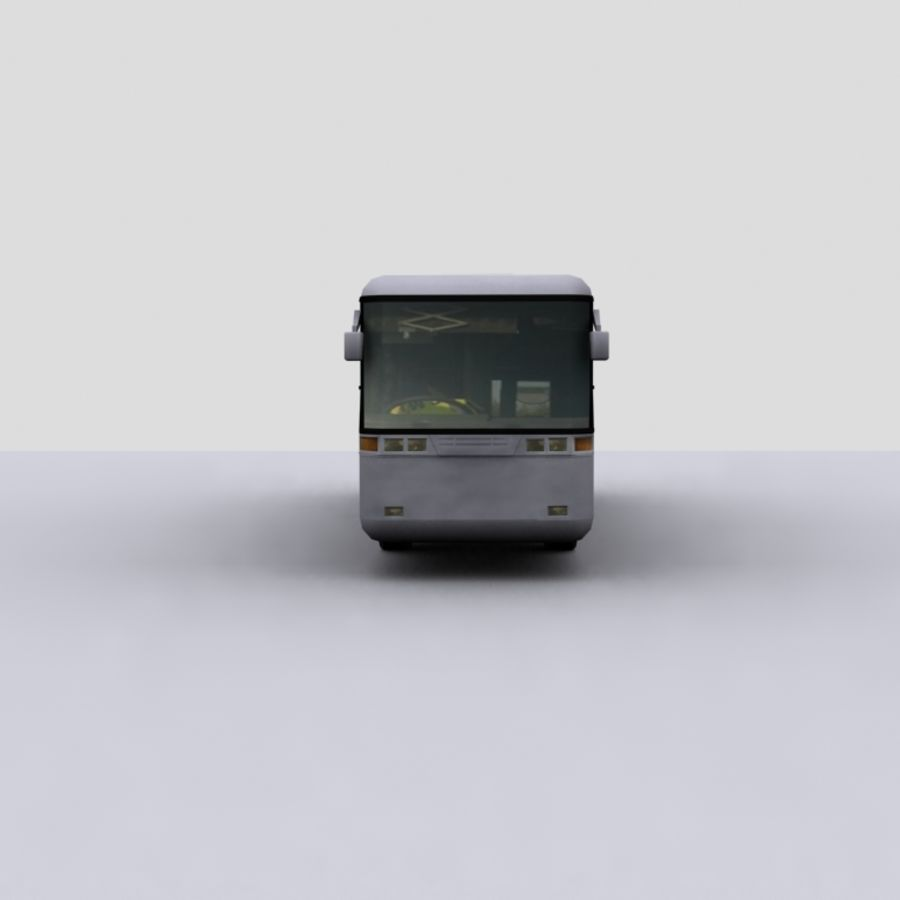 Low Polygon Coach 1 royalty-free 3d model - Preview no. 5