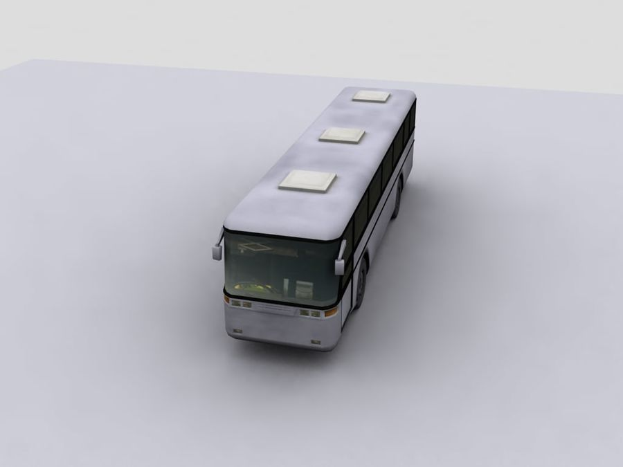 Low Polygon Coach 1 royalty-free 3d model - Preview no. 1
