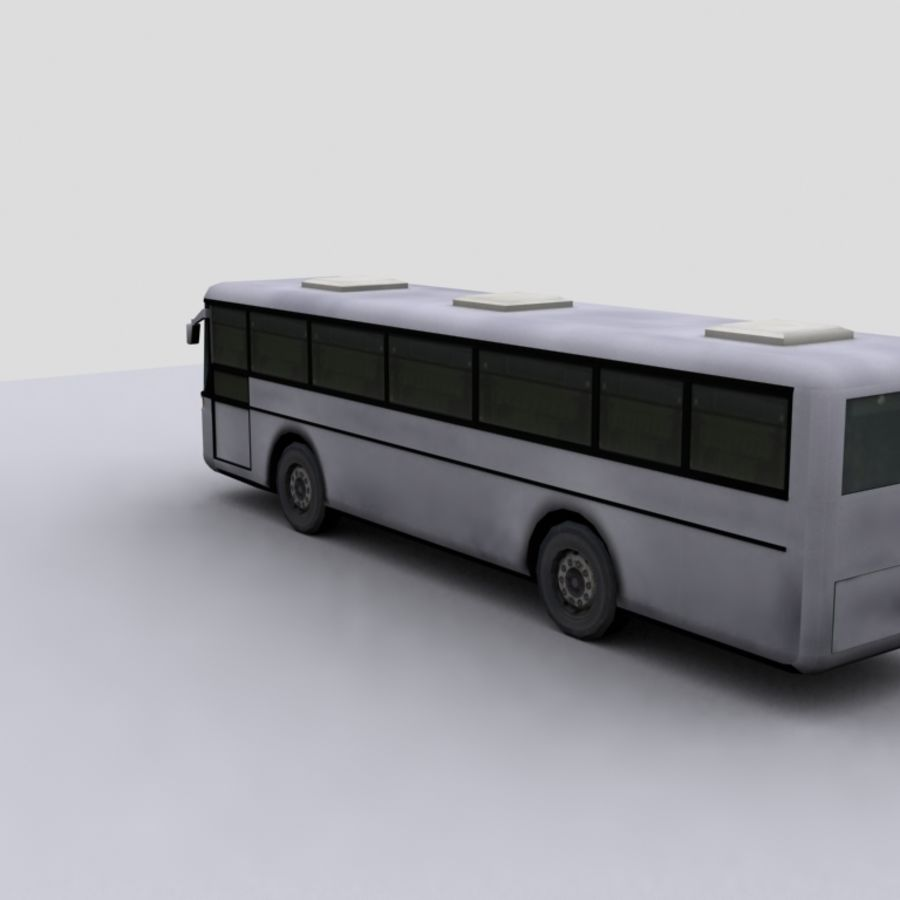 Low Polygon Coach 1 royalty-free 3d model - Preview no. 3