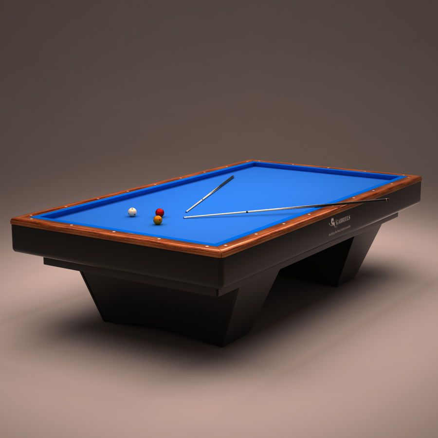Billiard Table Royalty Free 3d Model   Preview No. 1