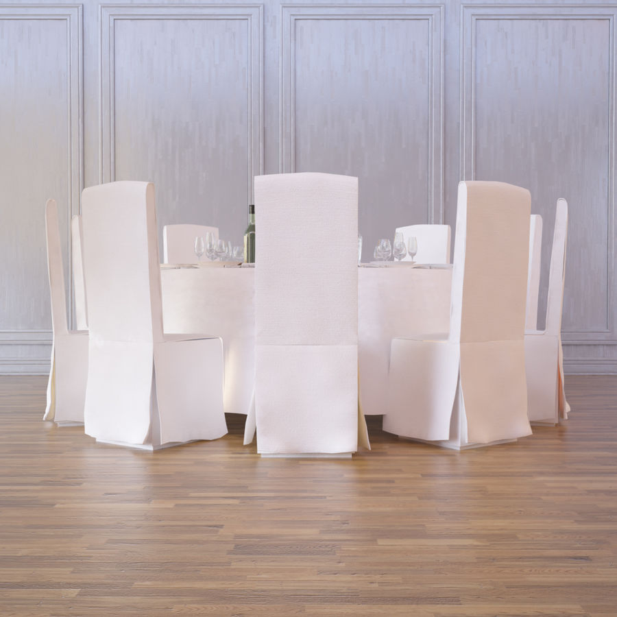 Ballroom Table royalty-free 3d model - Preview no. 3