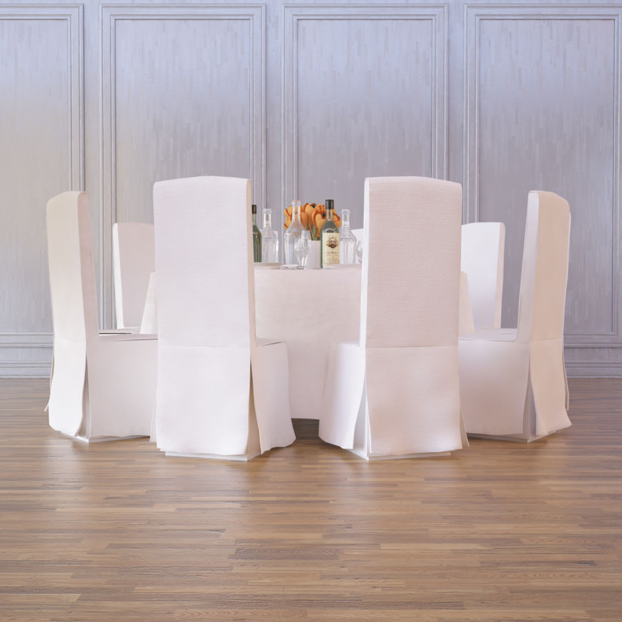 Ballroom Table royalty-free 3d model - Preview no. 1