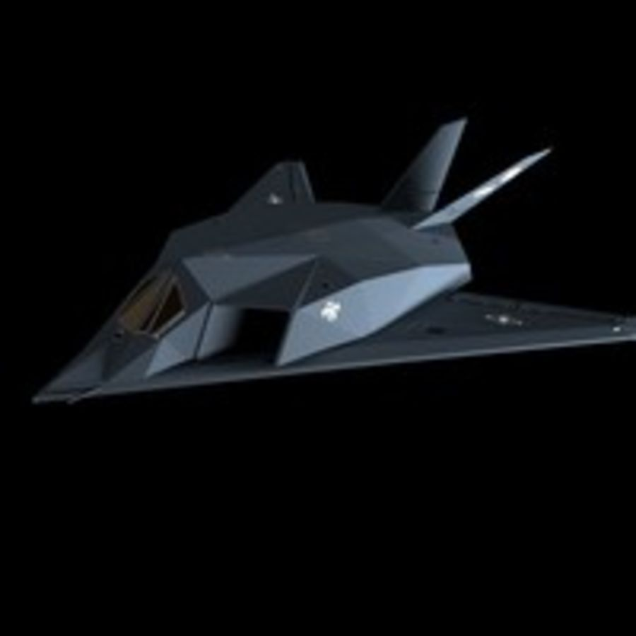 Aircraft Lockheed F-117 Nighthawk royalty-free 3d model - Preview no. 6
