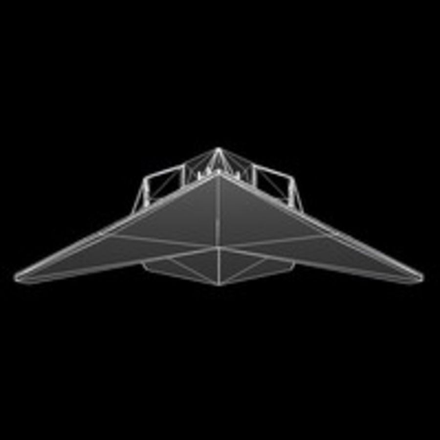 Aircraft Lockheed F-117 Nighthawk royalty-free 3d model - Preview no. 9