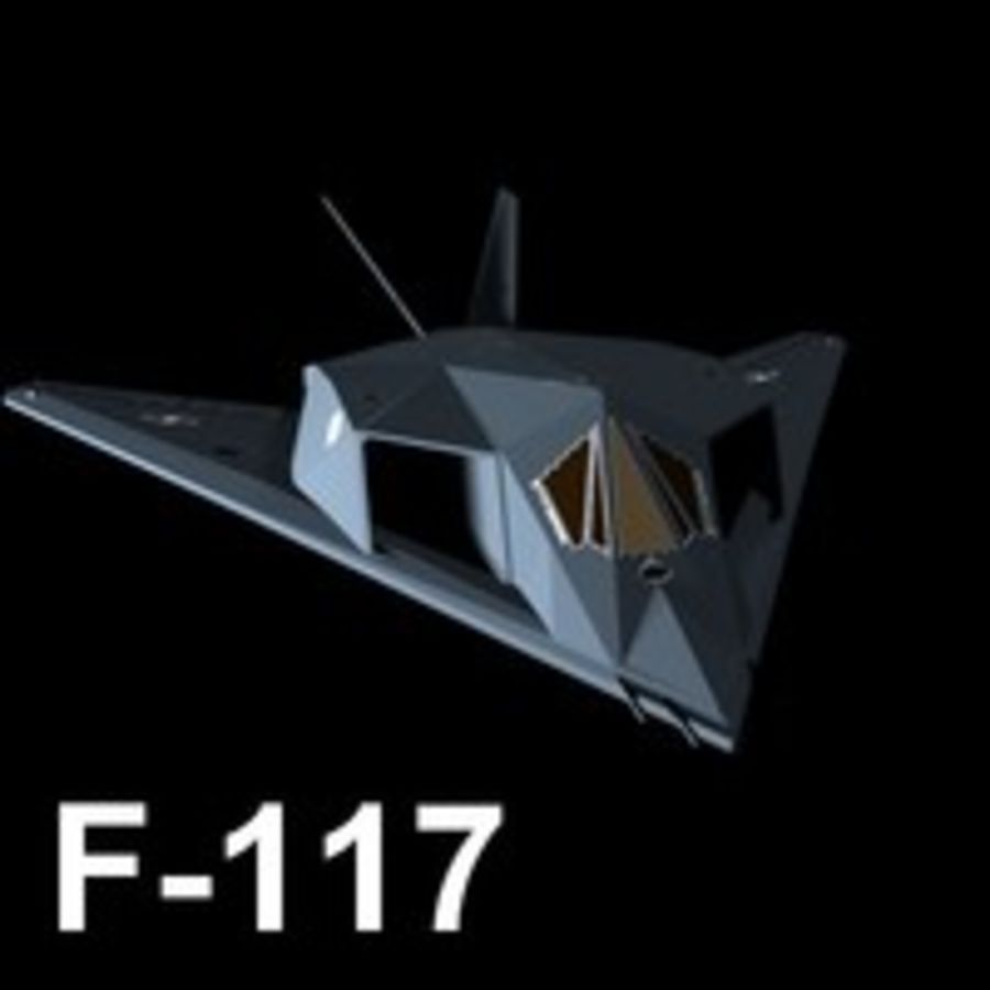 Aircraft Lockheed F-117 Nighthawk royalty-free 3d model - Preview no. 5