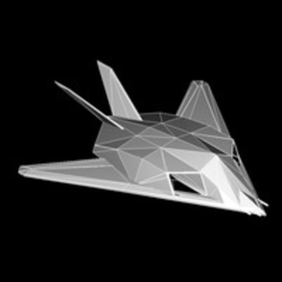 Aircraft Lockheed F-117 Nighthawk royalty-free 3d model - Preview no. 8