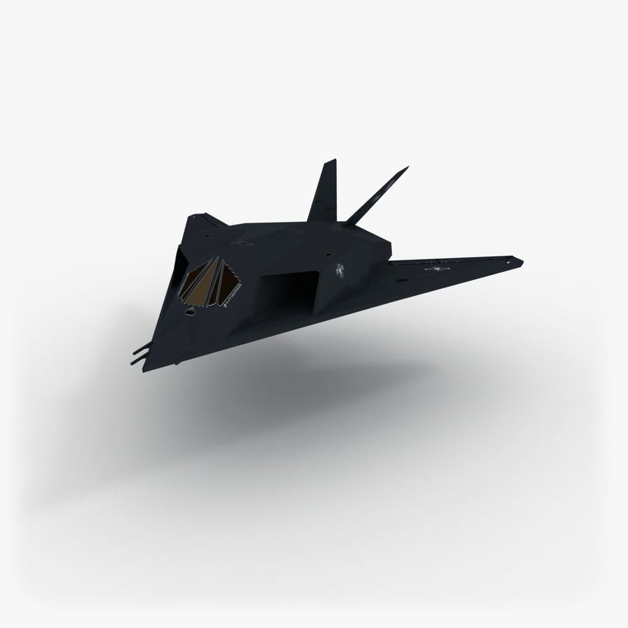 Aircraft Lockheed F-117 Nighthawk royalty-free 3d model - Preview no. 2